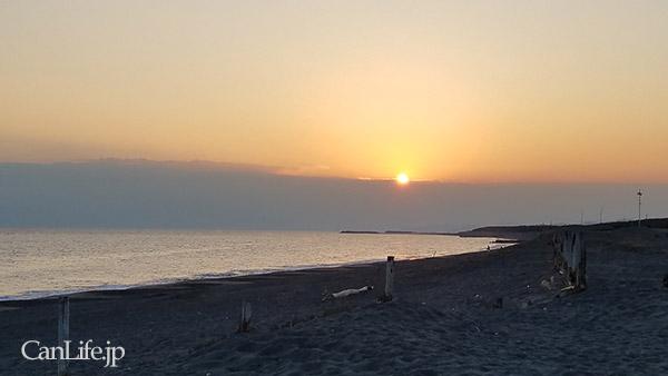 浜須賀海岸の夕陽