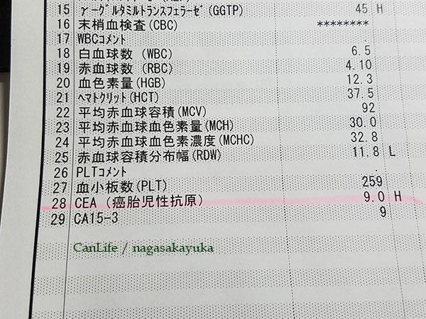 CEA検査結果9